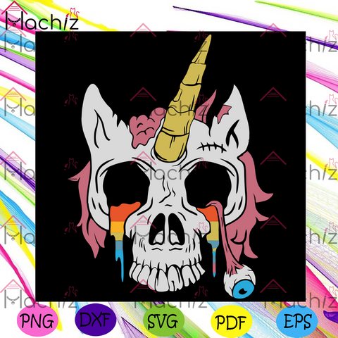 Unicorn Zombie Svg, Halloween Svg, Unicorn Svg, Zombie Svg, Unicorn Zombie Svg, Skull Svg, Unicorn Skull Svg, Unicorn Crying Svg, Unicorn Lover, Halloween Gift, Halloween Party, Gift For Kids, Svg Cricut