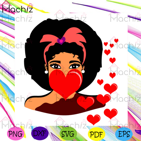 Valentine Elsa Svg, Valentine Svg, Afro Puffs Svg, Valentines Day Svg, Afro Girl Svg, Black Girl Hair Svg, African American Svg, Happy Valentines Day Svg, Valentines Gift Svg, Valentine Quotes Svg, Heart Svg, Love Svg, Couple Svg