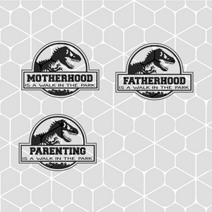 Walk in the park dinosaur,  motherhood svg, fatherhood svg, parenting svg, jurassic park, dinosaur, dinosaur svg, dinosaur family, family shirt,trending svg, Files For Silhouette, Files For Cricut, SVG, DXF, EPS, PNG, Instant Download