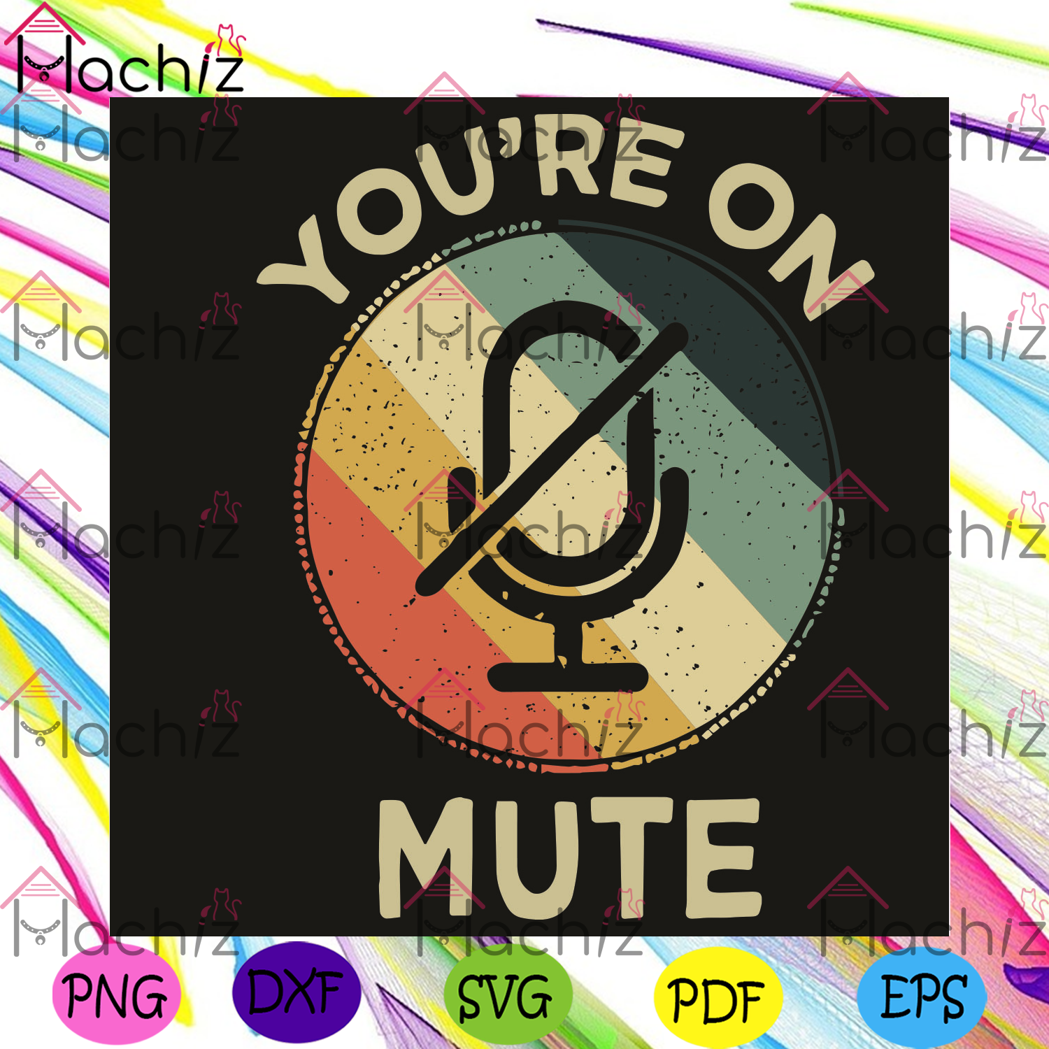 You are on mute Svg, You are on mute shirt, You are on mute gift, Mute icon svg, Mute svg, Mute shirt, mute gift, vintage style svg, vintage shirt, vintage gift, silent svg, friend gifts, Files For Silhouette, Files For Cricut, SVG, DXF, EPS, PNG,