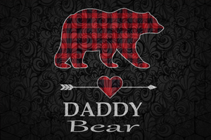 Daddy bear svg,  fathers day svg, fathers day gift, gift for papa, fathers day lover, fathers day lover gift, dad life, dad svg, papa svg, family, family life svg,  Files For Silhouette, Files For Cricut, SVG, DXF, EPS, PNG, Instant Download