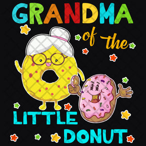 Grandma little donut,  donut svg, donut party, donut birthday, grandma svg, grandma gift, family svg, family shirt,family gift,trending svg, Files For Silhouette, Files For Cricut, SVG, DXF, EPS, PNG, Instant Download