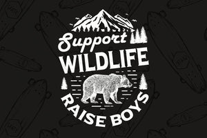 Support wildlife raise boys, wildlife svg, wild animal svg, wild life svg, wild life shirt, bears svg, family svg, family shirt,family gift,trending svg, Files For Silhouette, Files For Cricut, SVG, DXF, EPS, PNG, Instant Download