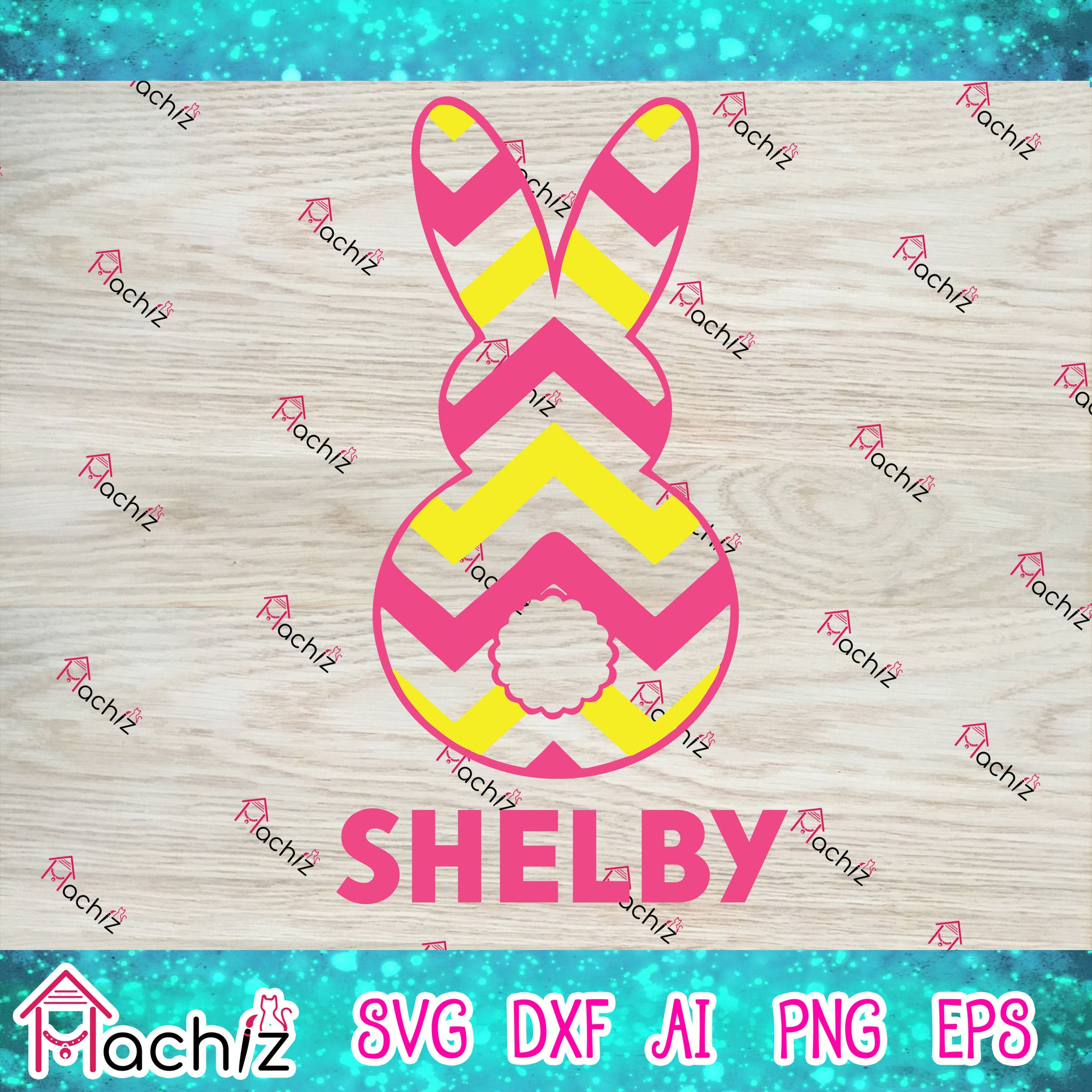 Rabbit shelby,Happy Easter SVG, Easter svg, Jesus svg, Easter Bunny svg, Easter Quote svg, Easter Egg svg,vector,svg, eps, dxf, Png Silhouette Cameo or Cricut Digital Download Files