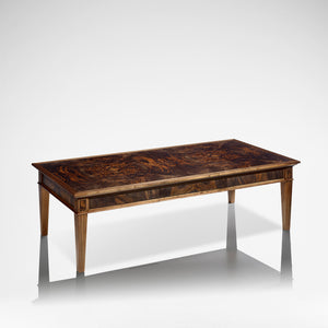 LINLEY Classic Coffee Table - Burr Walnut and Ebony