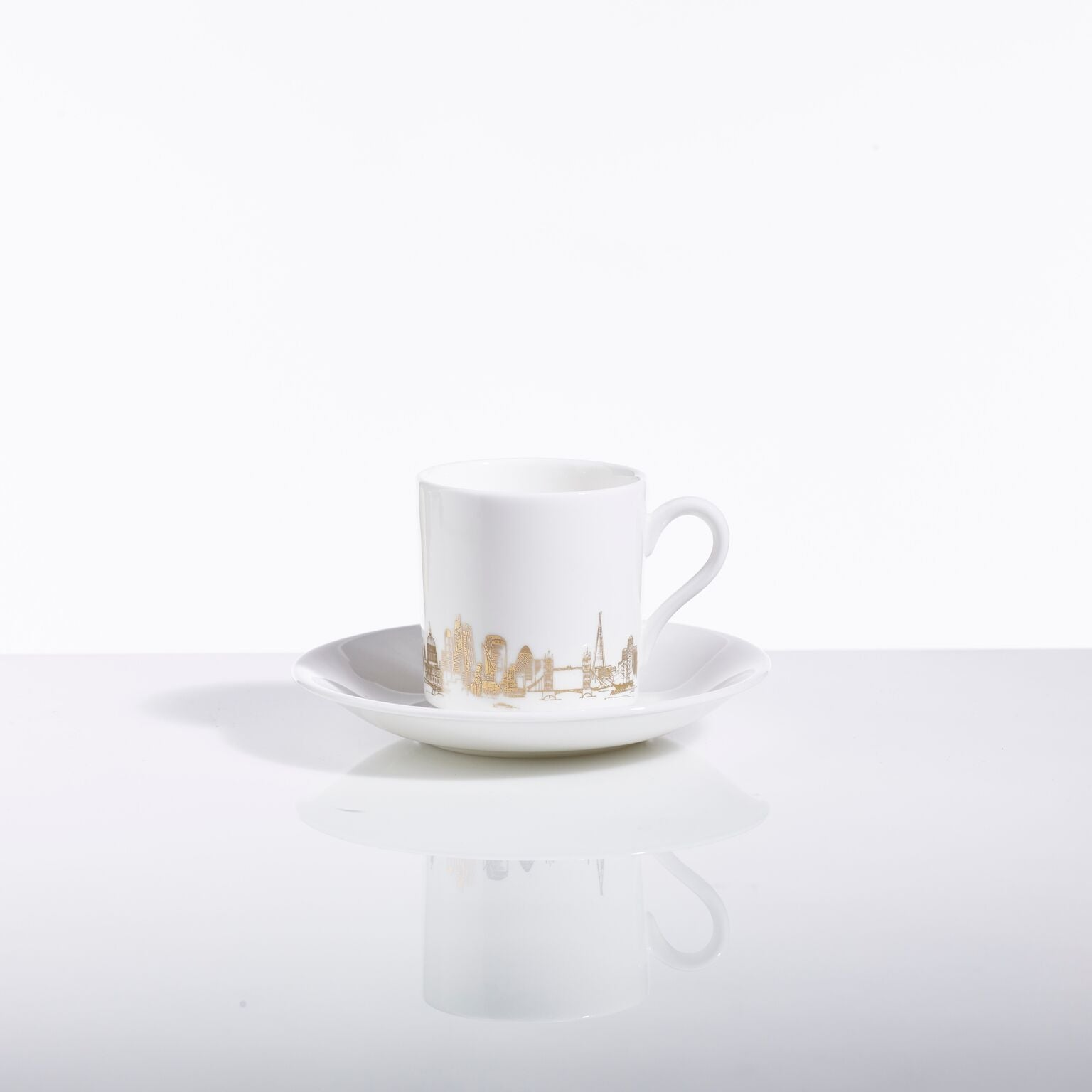 London Skyline Espresso Cup & Saucer