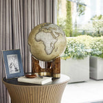 Table Top Tellus Globe - Ochre & Walnut