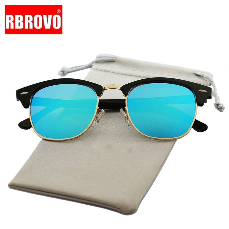 Semi-Rimless  Designer Sunglasses