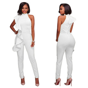 Open image in slideshow, Ruffles Turtleneck  Sleeveless Off Shoulder Jumpsuit