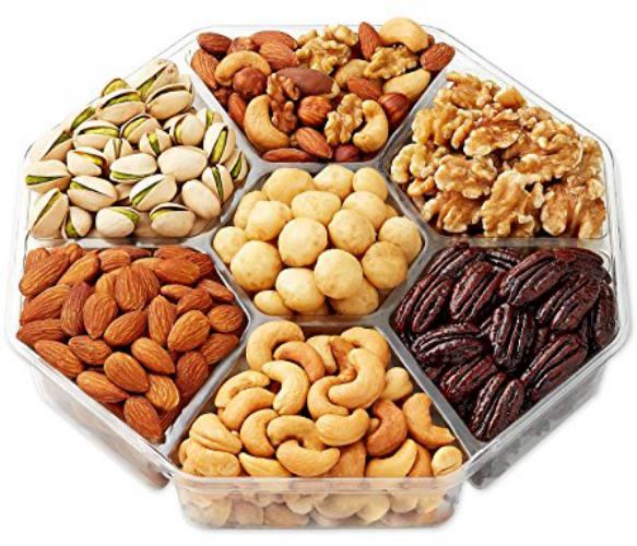 Hexagon trays with assorted nuts - Aja Gourmet Bounty