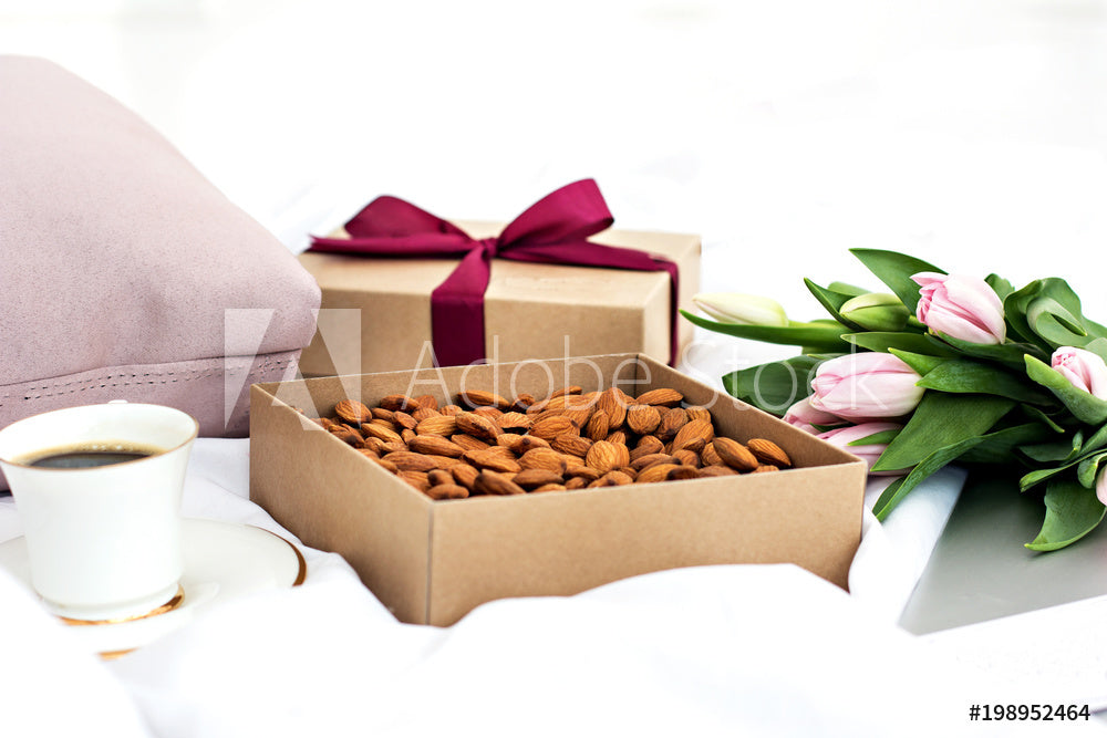 Beautiful Nuts & Almonds Gift Box - Aja Gourmet Bounty