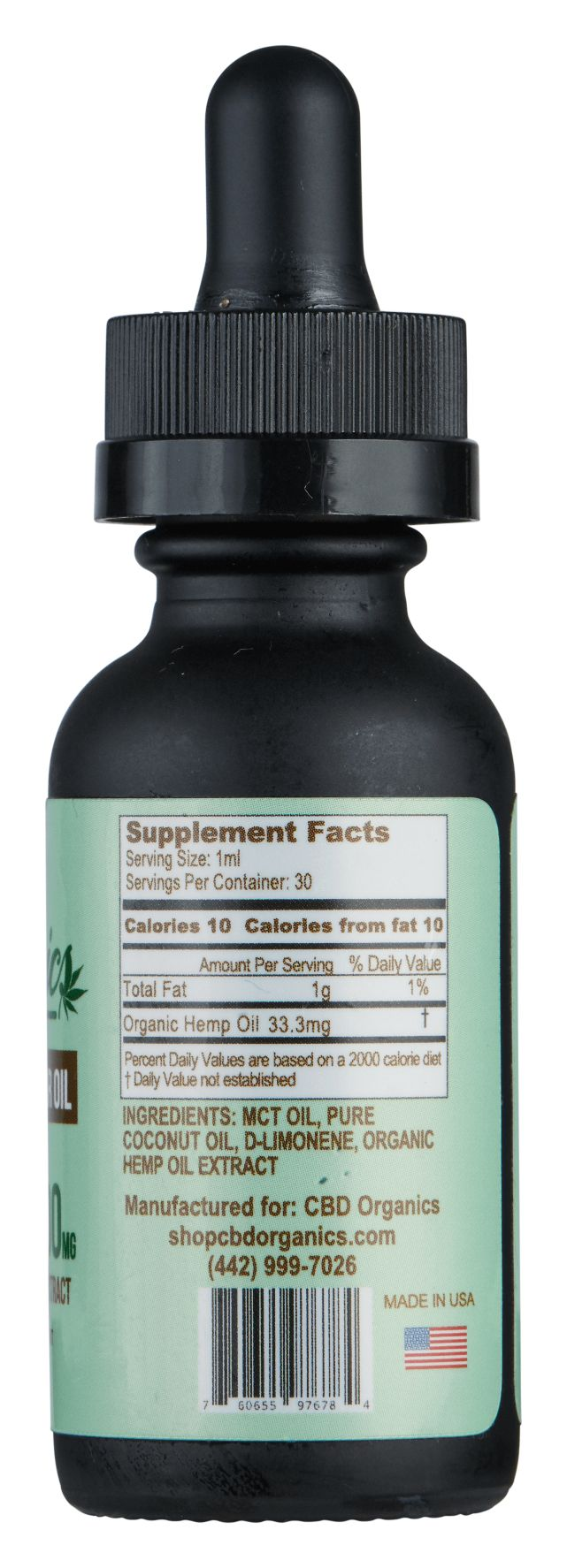 CBD Oil 1000mg - Shop CBD Organics