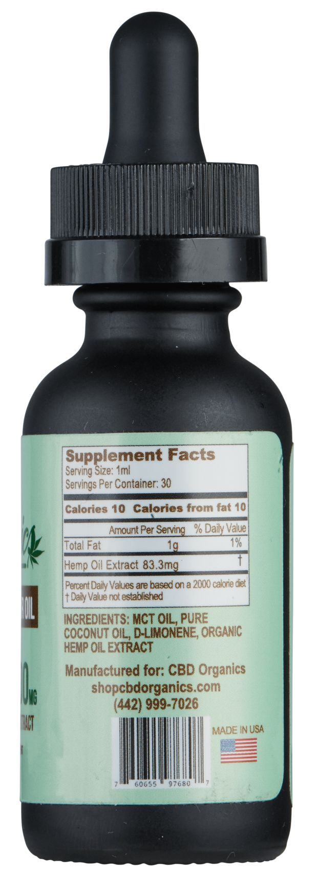 CBD Oil 2500mg - Shop CBD Organics