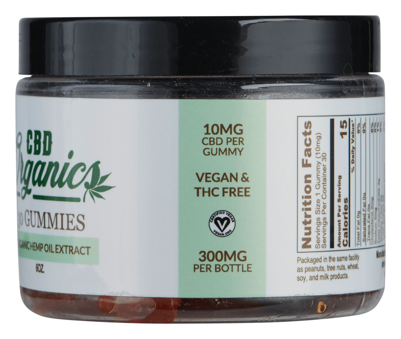 Vegan CBD Gummies 300mg - Shop CBD Organics