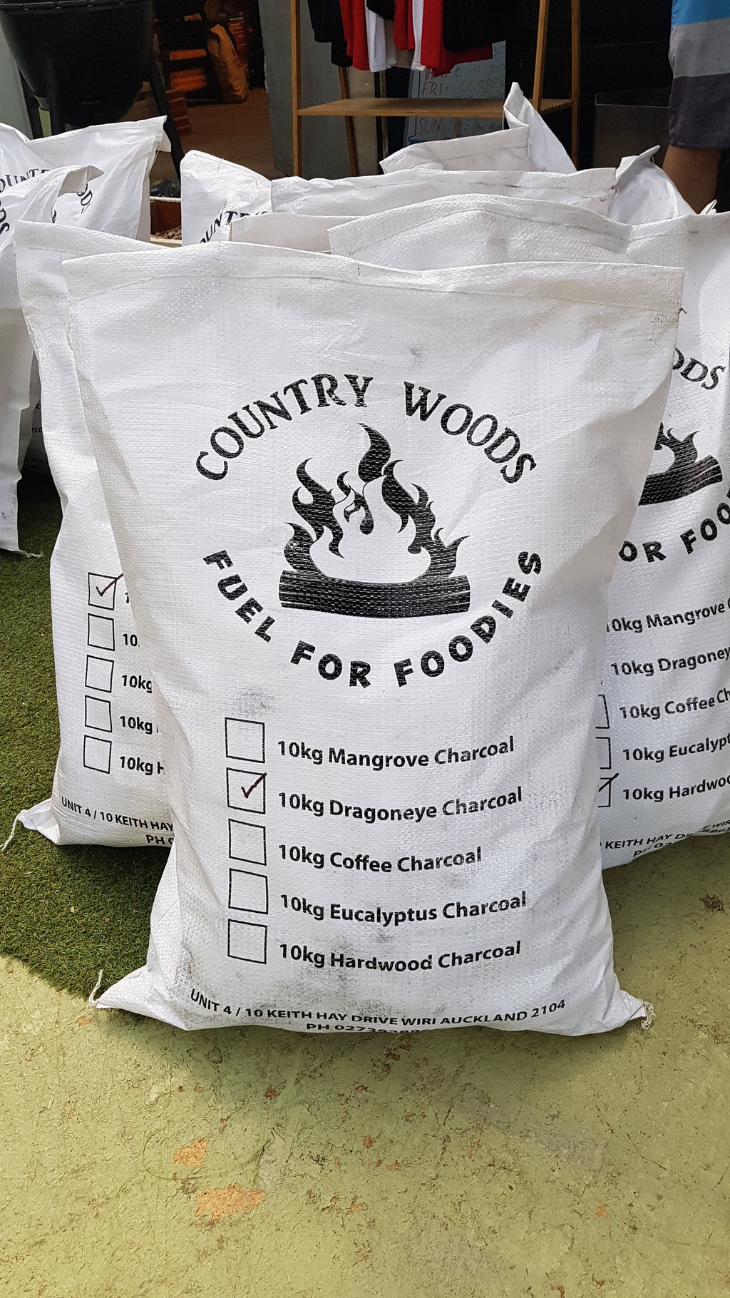 Dragon Eye Fruitwood Natural Lump Charcoal 10kg by CountryWoods NZ