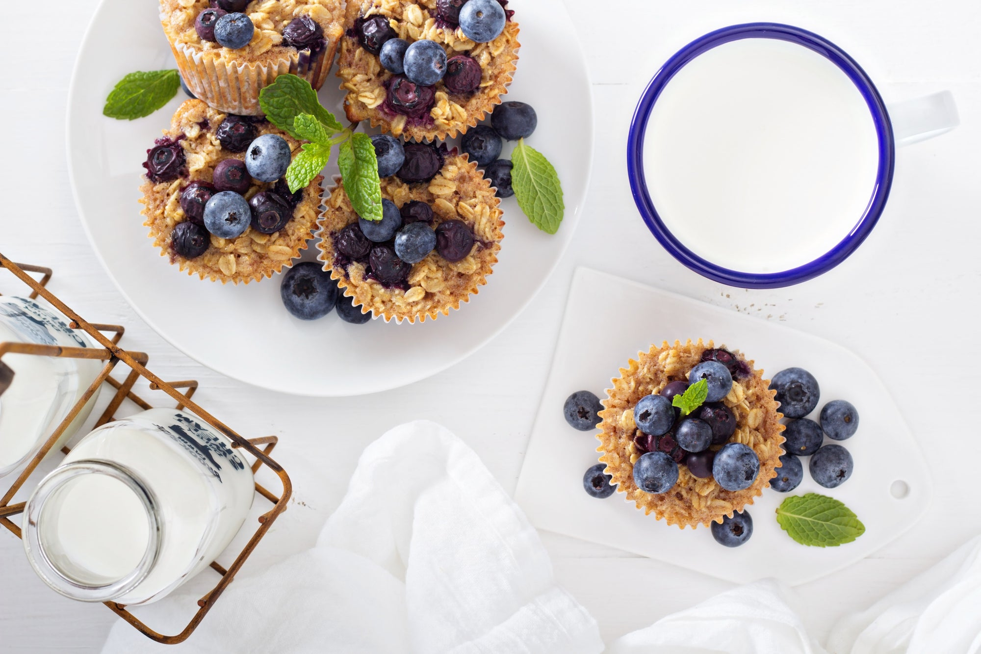 Peanut Butter Blueberry Oatmeal Muffins Recipe