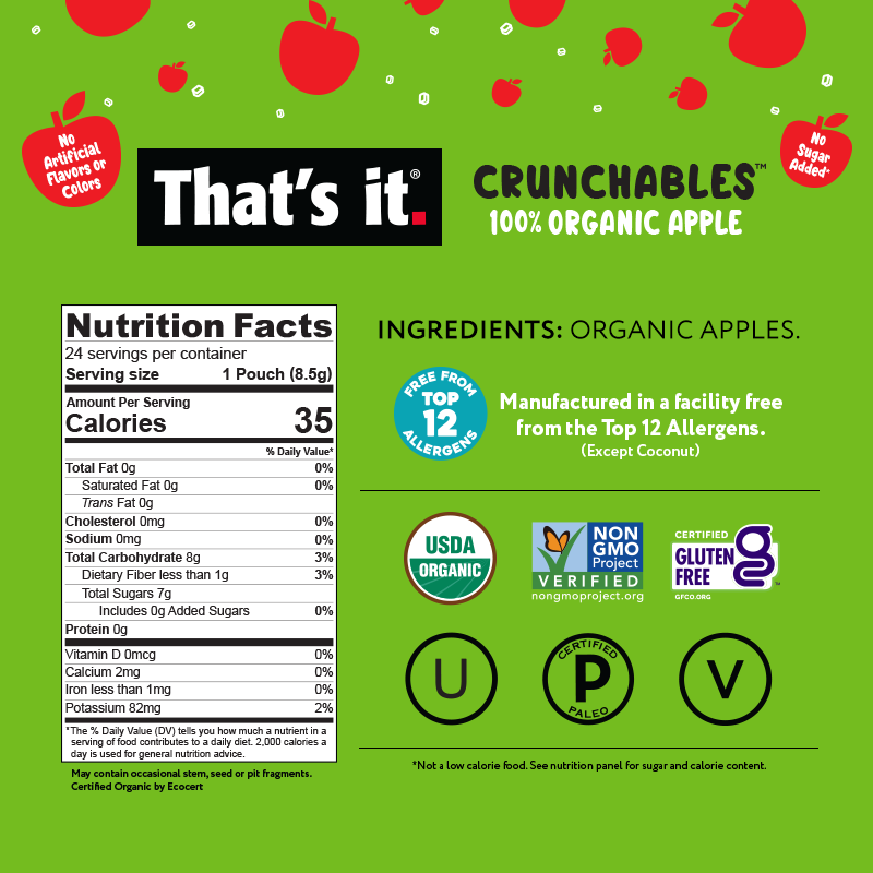 Organic Apple Crunchables NFP