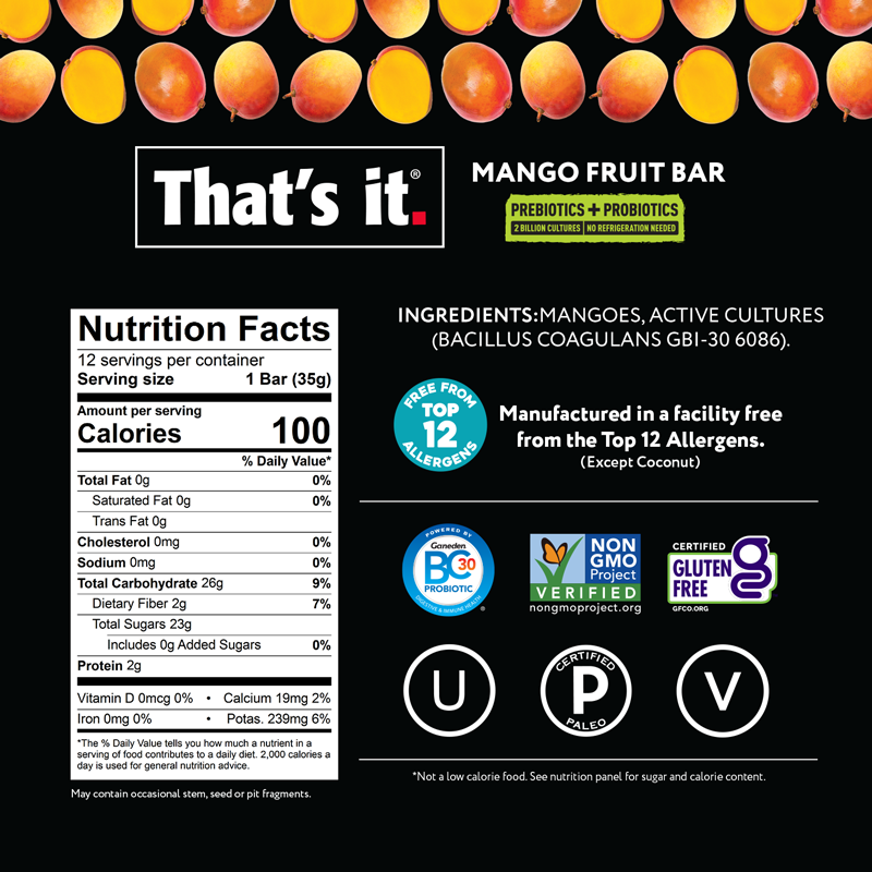 Mango Probiotic Bar NFP