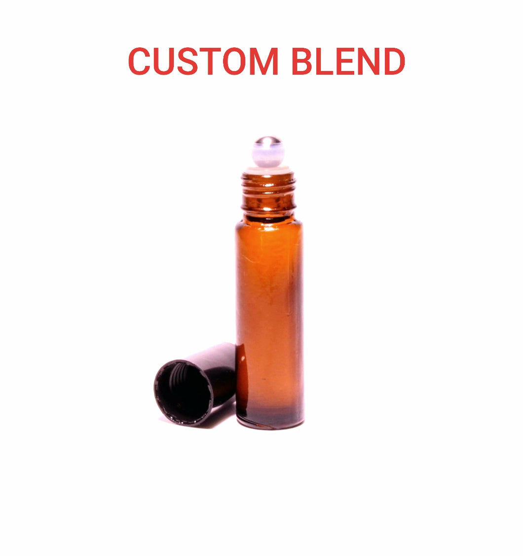 CUSTOM BLEND: 10ml Essential Oil Roll On Bottle