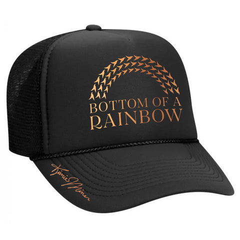 Bottom Of A Rainbow - Adult Trucker Hat Black