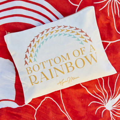 Bottom Of A Rainbow Canvas Zipper Pouch