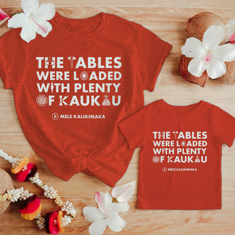 Christmas Lūʻau Adult T-Shirt - Red