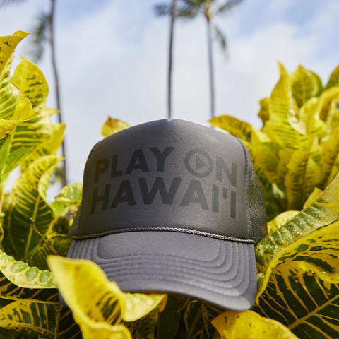 Play On Hawai'i Adult Trucker Hat Grey/Black