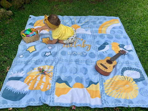 Hawaiian Lullaby Beach Blanket (Blue)