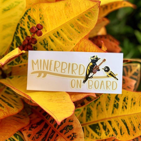 Minerbird On Board Sticker
