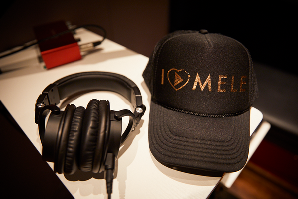 I Love Mele Adult Trucker Hat Black/Rose Gold