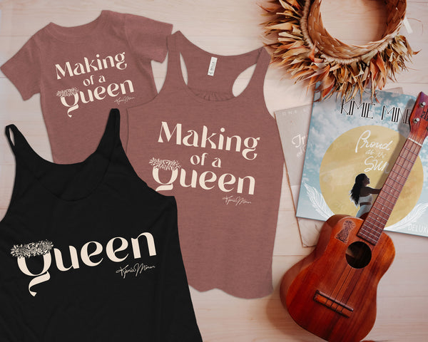 Making Of A Queen - Girls Flowy Racerback Tank