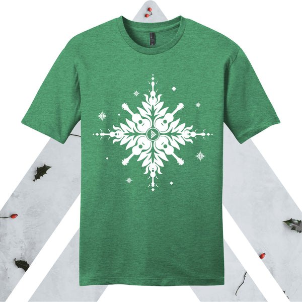 Holiday ʻUkulele Quilt Adult T-Shirt Green