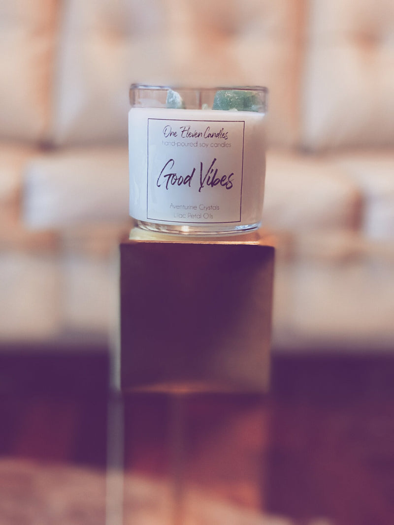 Good Vibes - Crystal Soy Candle