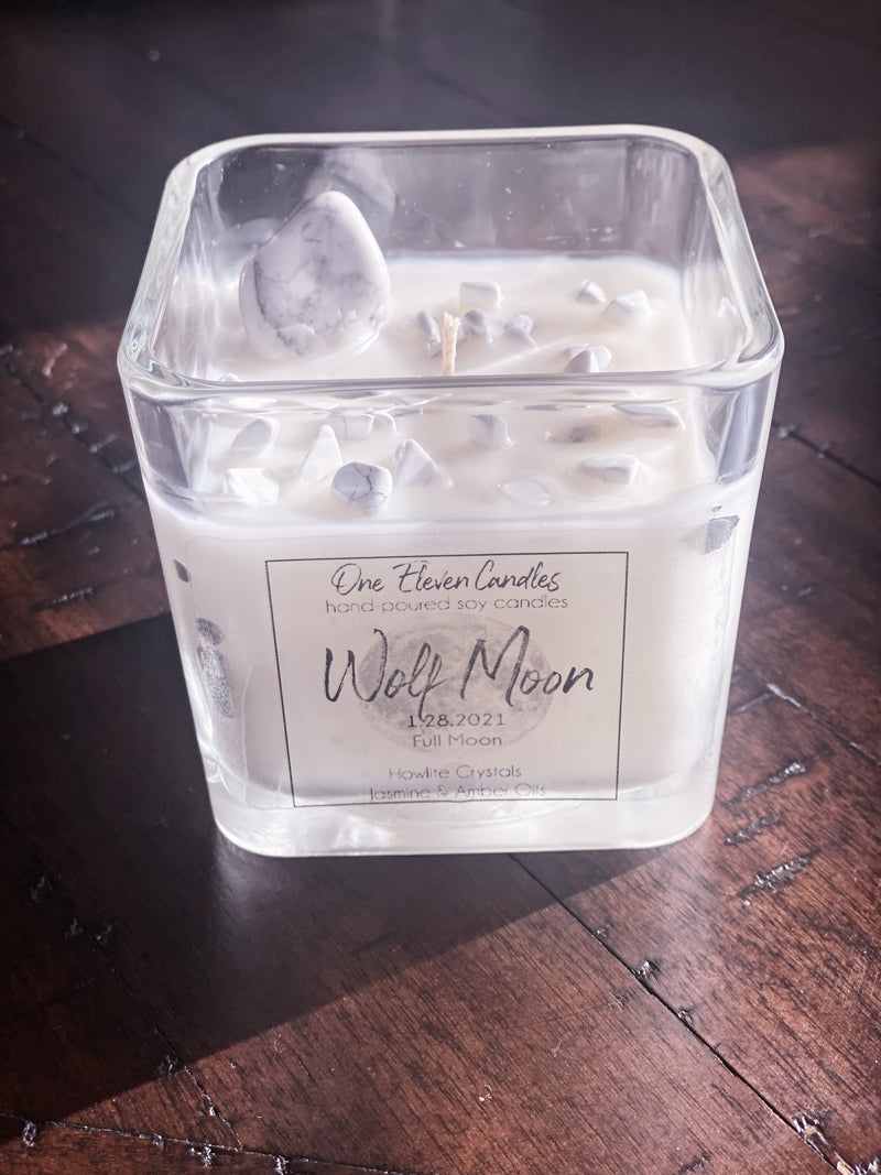 Full Moon 12 oz Candle - Wolf Moon - January 28, 2021