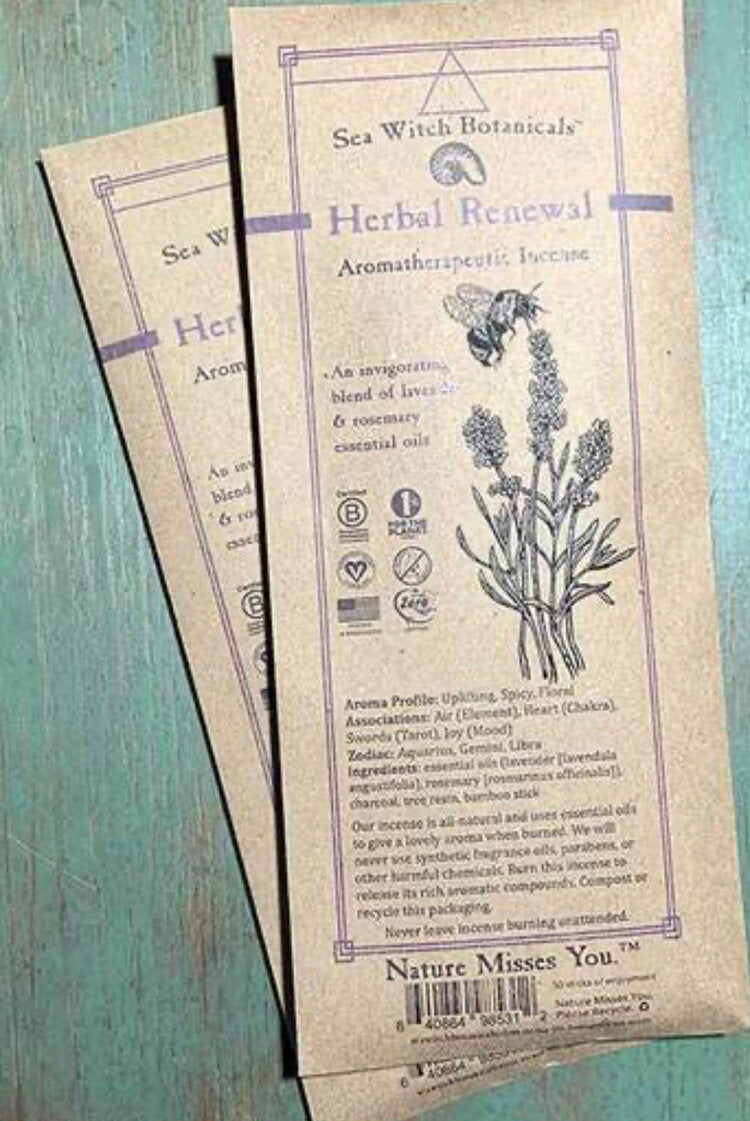 Herbal Renewal All-Natural Incense