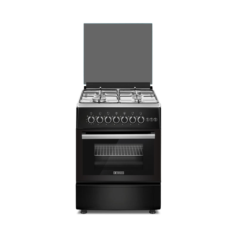 60x60 Free Standing Gas Cooker, Black Design