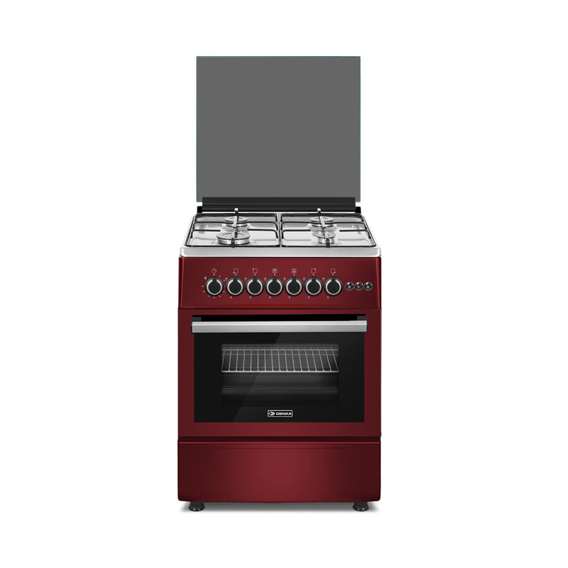60x60 Free Standing Gas Cooker, Red Design