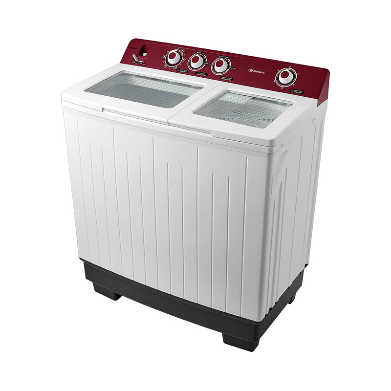 Twin Tub Washing Machine 13.5Kg, Red