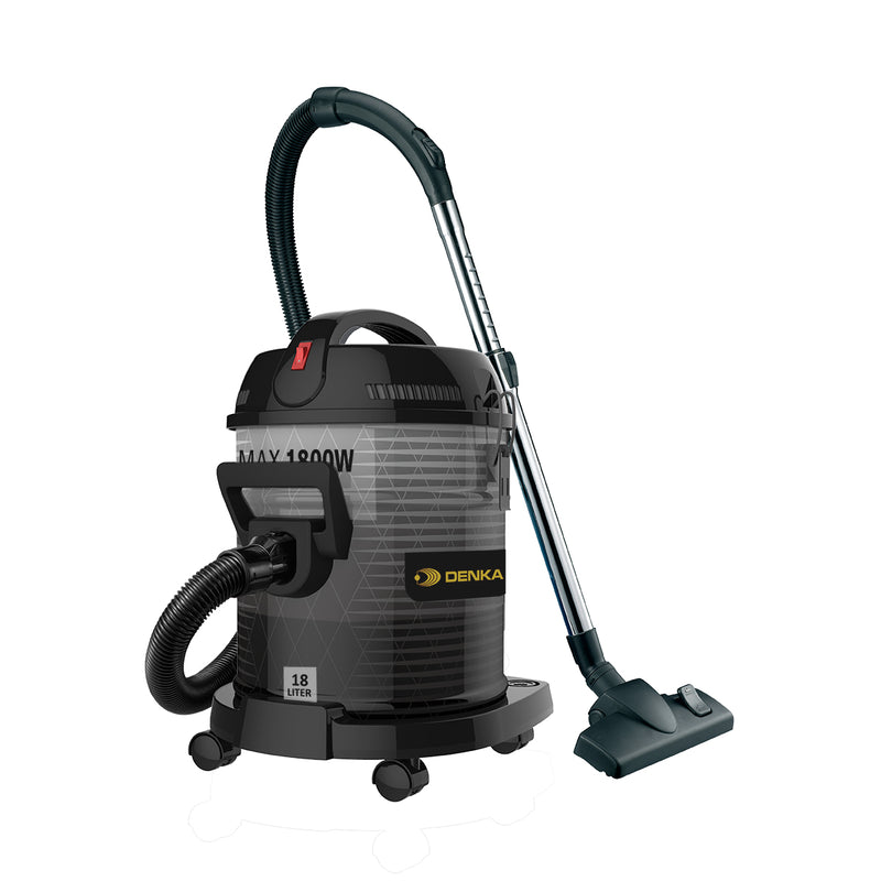 Drum Vacuum	Dry Only 1800W Max 18L