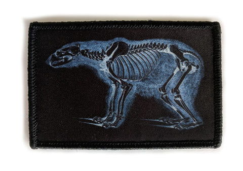 Bear Skeleton XRay  - Velcro Morale Patch