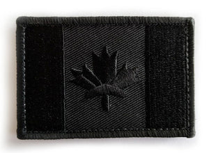 Canadian Flag Morale Patch - Iron-On Embroidery (Set of 2)
