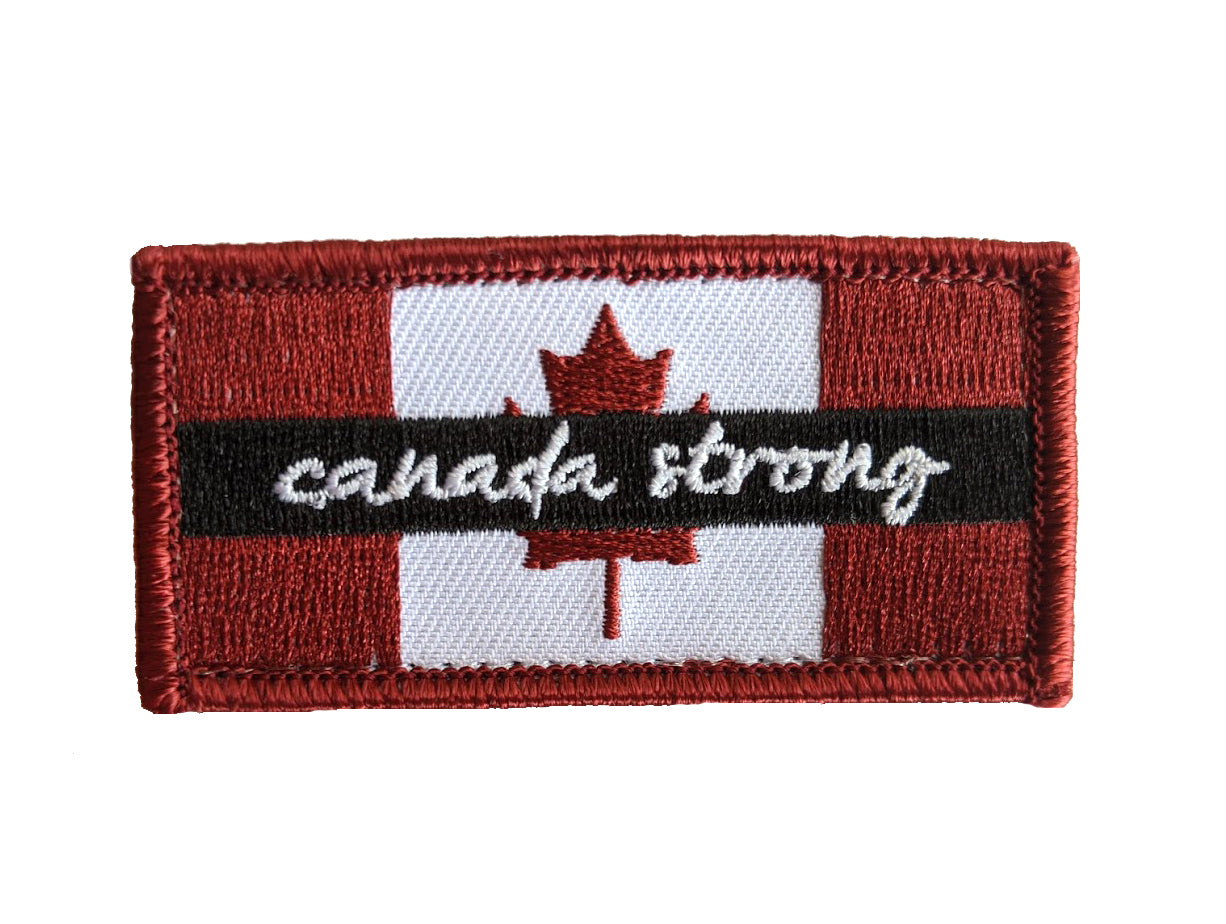 Canada Strong Morale Patch - Velcro Backing (Set of 2)