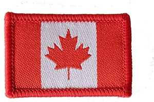 Small Canada Flag Iron-On Patches (set of 10)