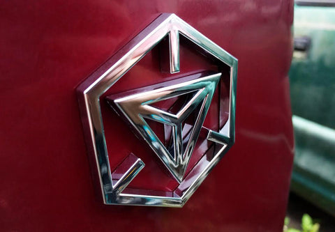 Ingress Chrome Hexagon Auto Decal