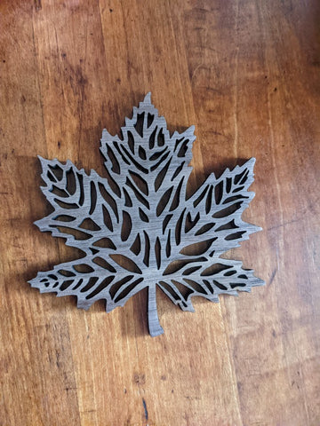 Handmade Maple Leaf Coaster Set of 4 or 6