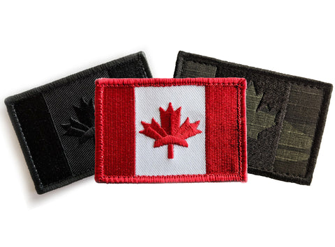 Canadian Flag Morale Patch - Velcro-Backed Embroidery