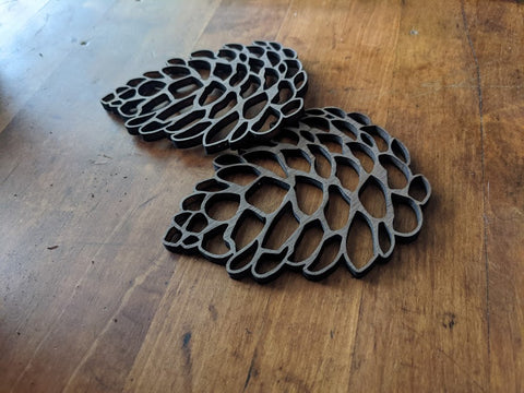 Handmade Pinecone Coaster Set of 4 or 6