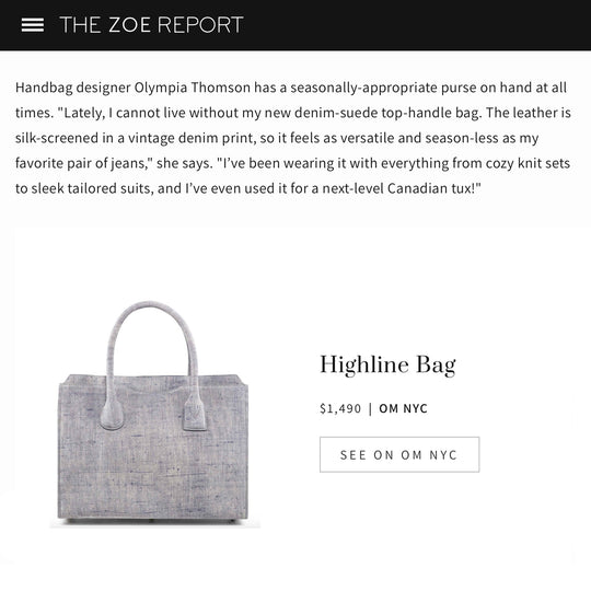 The Zoe Report: The Versatile Top-Handle