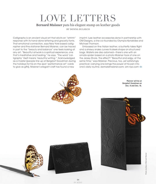 PURIST MAGAZINE: LOVE LETTERS