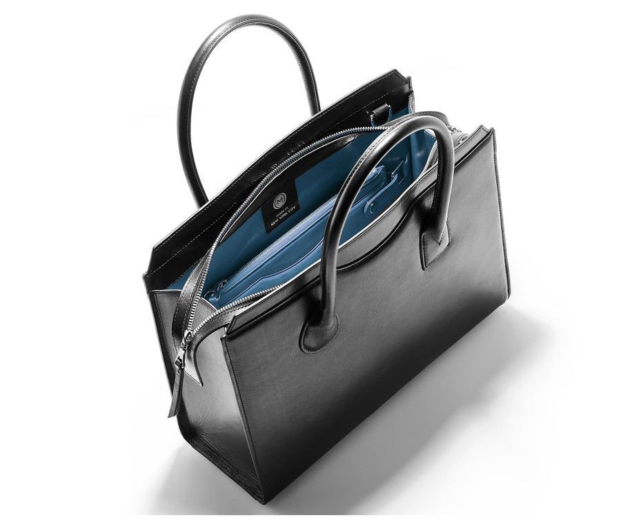 Highline 130 Smooth Calfskin Handbag - Black / Blue